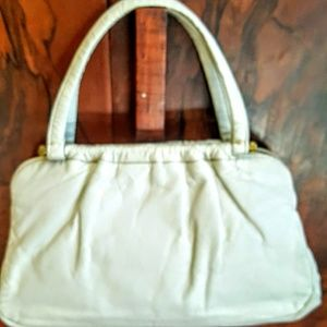 EUC Vintage Joseph Magnin white leather bag